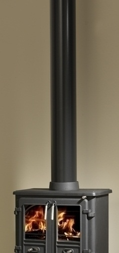 6 Inch Diameter Matt Black Vitreous Enamelled Flue Pipe